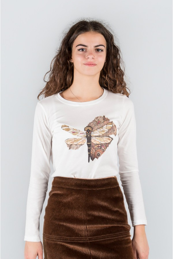 IVORY BUTTERFLY T-SHIRT