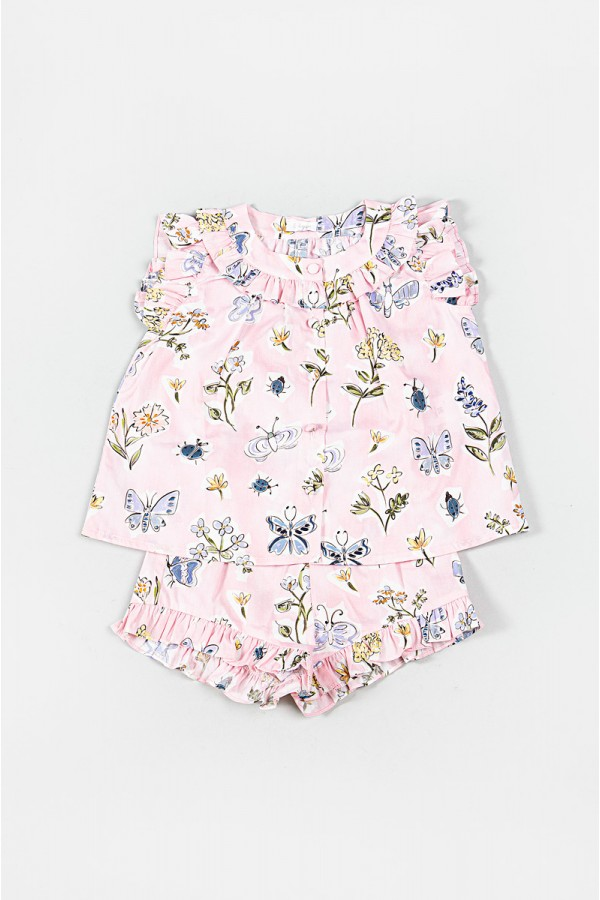 IL GUFO FLOWERS PINK OUTFIT