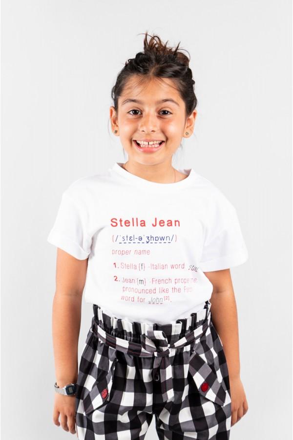 STELLA JEAN T-SHIRT BIANCO