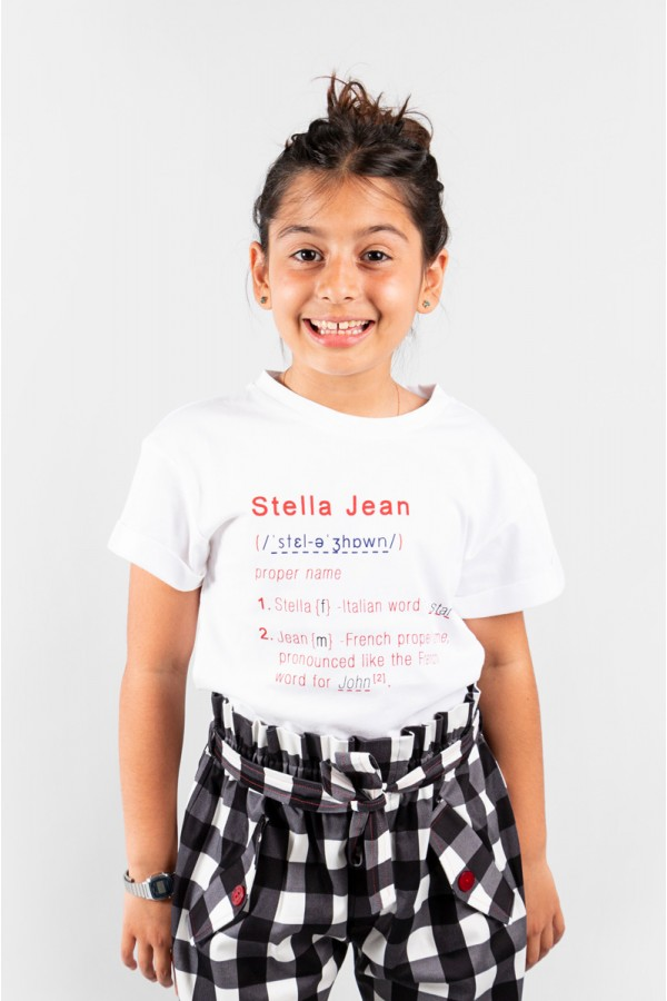 STELLA JEAN WHITE T-SHIRT