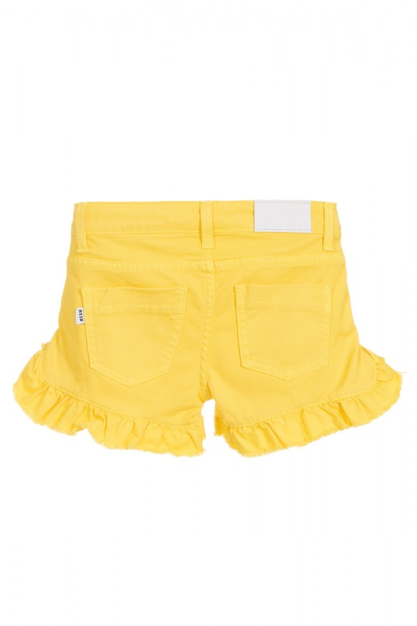 MSGM YELLOW DENIM SHORTS