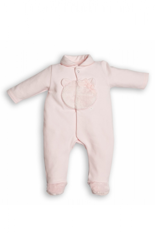 FIRST PINK TEDDY BEAR JUMPSUIT