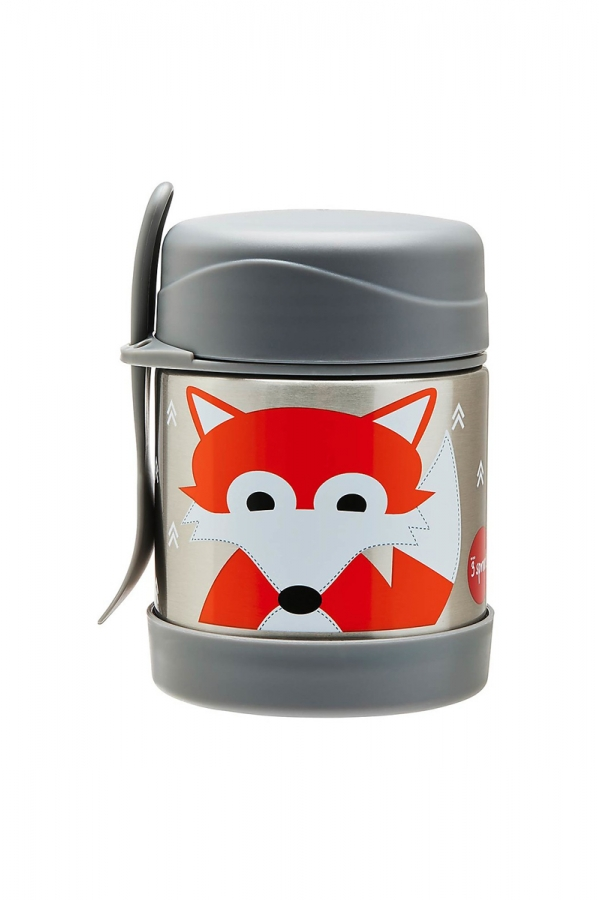 3 SPROUTS THERMOS GREY FOX