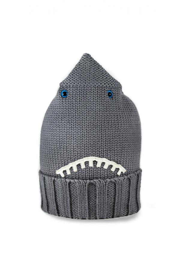 TUNDEM GREY WOOL SHARK HAT