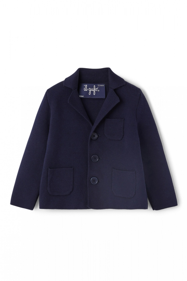IL GUFO NAVY BLUE KNITTED...